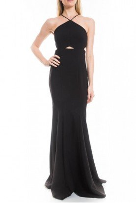 Likely Black Halter Harper Gown YD557001LYB
