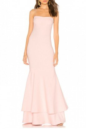 Pink Ruffled Aurora Mermaid Gown YD269001LY-B