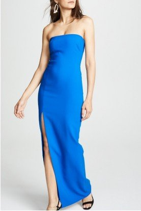 Blue Palmer Strapless Gown YD283001LY