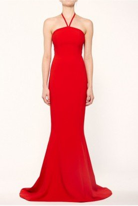 Red Halter Viseroy Mermaid Gown YD271001LY