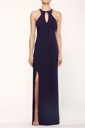 Navy Jewel Neckline Elston Gown YD283001LY