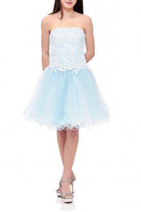Blue Sleeveless Tulle Party Dress TW11505