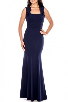 Decode 1 8 Navy Open Back Fitted Mermaid Gown 183468