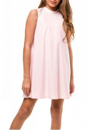 Un Deux Trois Light Pink Sleeveless Shift Dress T3129KB-P