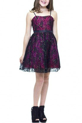 Black Lace Party Dress T2845K