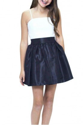 Black and White Party Dress T2183KT