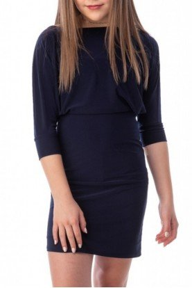 Blue Dolman Sleeve Dress T2994K NAVY