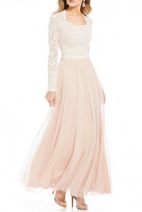 Blush Glittered Sequin Lace Two Piece 10464