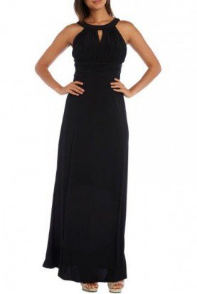 Black Ruched Top Gown 21541