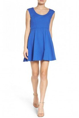 Blue Fit and Flare Dress 71EYO-Blue