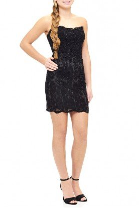 Black Lace Mini Dress E1930