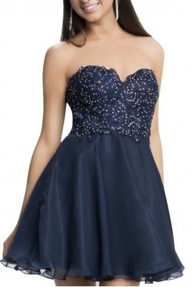 Black Strapless Sparkle Dress L669