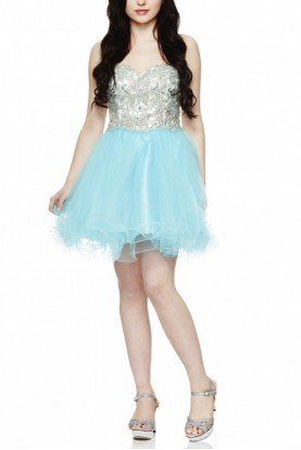 Blue Jeweled Cocktail Dress 42030