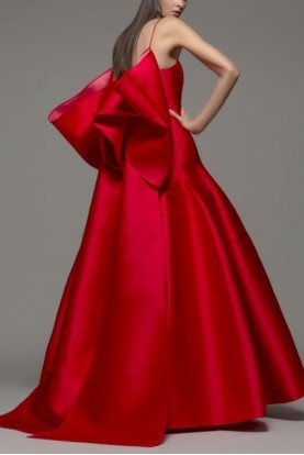 Red Sleeveless Jeffa Gown 172