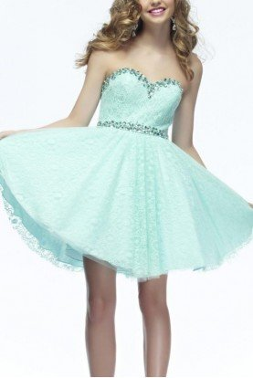 Turquoise Riva Designs Strapless Sparkle Dress