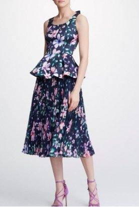 Navy2 Piece Sleeveless Midi Dress N32T0961 N32S095