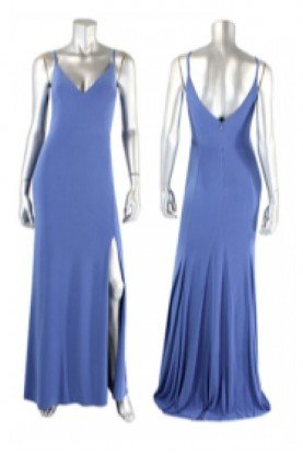 Periwinkle V-Neck Gown 10695-Peri