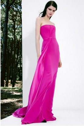 Alex Perry  Garnet Strapless Satin Crepe Gown