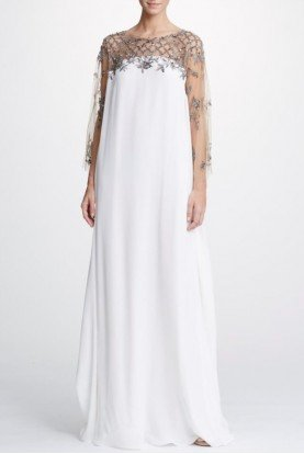 Crystal Embroidered Caftan Gown