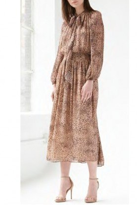 Long Sleeve Midi Tea Dress 445766