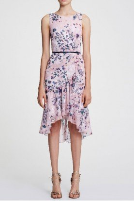 Sleeveless Floral Chiffon Cocktail Dress N29C0854