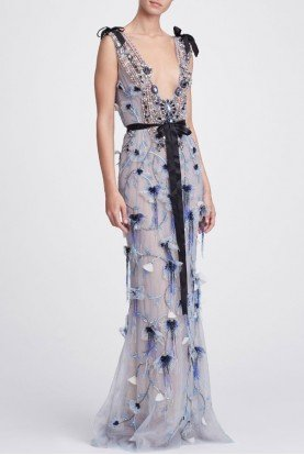 Marchesa Column Gown