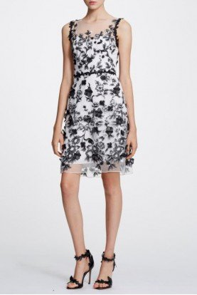 Sleeveless 3D Floral Cocktail Dress N30C0863