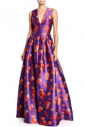 Violet and Cherry Sleeveless Brooke Gown