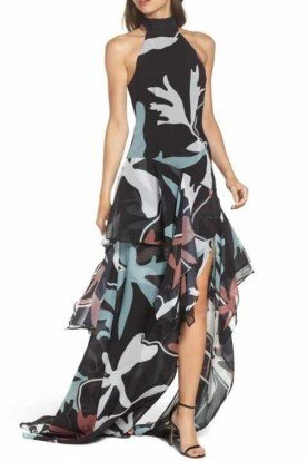 Take a Hold Gown Halter Dress w Slit