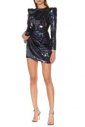 Iris Long Sleeve Sequin Mini Dress