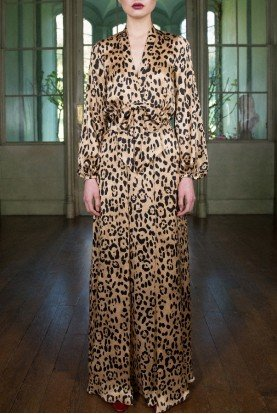 Piera Dress in Leopard Animal Print