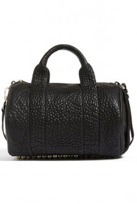 Alexander Wang  Rocco Black Leather Satchel Handbag