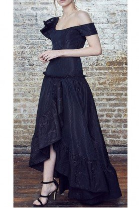 Jackson Jeanne 2 Piece Black High Low Dress Set