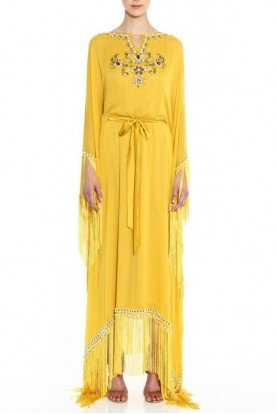 Georgette Yellow Caftan