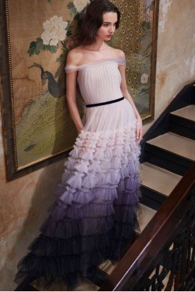 Ombre Textured Tulle Light Pink Gown