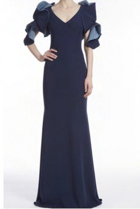 Origami Two-Tone Navy Gown