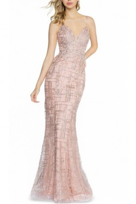 Val Stefani Cyprus Mermaid Dusty Pink Gown 3712RG