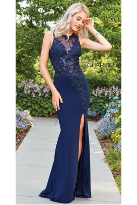 Clarisse Fiona Flared Navy Gown 3572