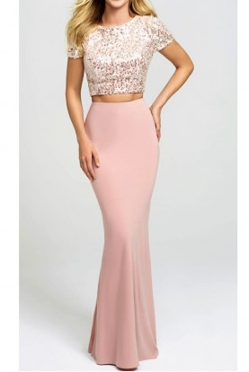 Madison James Pink Sonny Two Piece Dress 19207