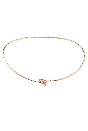 Sandugash Gallo Jewelry Aya Necklace Pink CZ