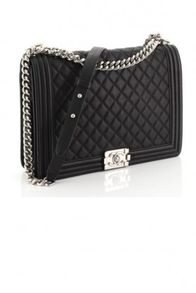 Chanel Black Boy Bag Caviar Leather